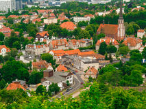 Aerial view from tower of district gdansk building Stock Image