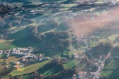 Aerial View of Town Royalty Free Stock Photo