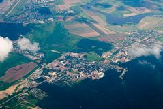 Aerial view of town Royalty Free Stock Photography