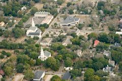 Aerial view of town Stock Images