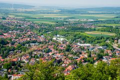 Town of Bad Harzburg in Germany. Aerial view of Town of Bad Harzburg in Germany Royalty Free Stock Photo