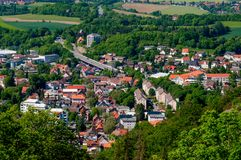 Town of Bad Harzburg in Germany. Aerial view of Town of Bad Harzburg in Germany Stock Photography