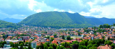 Aerial view of the town Brasov Stock Image