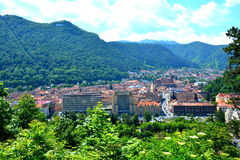 Aerial view of the town  Brasov Royalty Free Stock Images