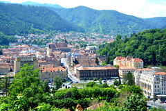 Aerial view of the town  Brasov Royalty Free Stock Photo