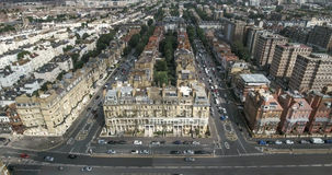 Aerial view of the town of Brighton and Hove in England stock image