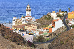 Aerial view of the town of Candelaria, Tenerife Royalty Free Stock Photography