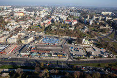Aerial view of town center Lublin Stock Images