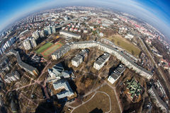 Aerial view of town center Lublin. Aerial view of lublin, residential, old town poland stock photos