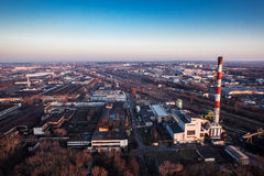 Aerial view of town center Lublin Royalty Free Stock Photography