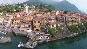 Aerial view Town of Menaggio on lake Como, , Italy. Aerial view Town of Menaggio on lake Como, Italy stock video