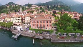 Aerial view Town of Menaggio on lake Como, , Italy. Aerial view Town of Menaggio on lake Como, Italy stock video footage