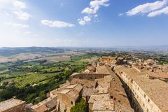 Aerial View of the Town of Montepulciano, Italy stock images