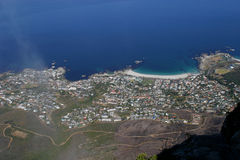 Aerial view of a town near cape hope. In South Africa Royalty Free Stock Image