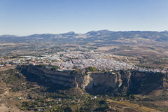 Aerial view of the town of Ronda. Aerial view of the town of Ronda in Andalusia, Spain Stock Image