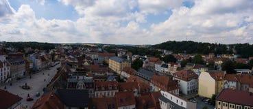Aerial view town schmoelln thuringia germany Stock Photos