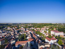 Aerial view town schmoelln thuringia germany Royalty Free Stock Image