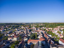 Aerial view town schmoelln thuringia germany Stock Photography