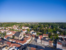 Aerial view town schmoelln thuringia germany Stock Image