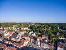 Aerial view town schmoelln thuringia germany Stock Images