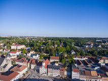 Aerial view town schmoelln thuringia germany Royalty Free Stock Images