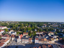 Aerial view town schmoelln thuringia germany Royalty Free Stock Photography