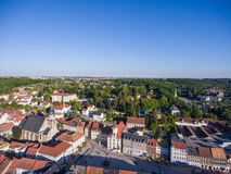 Aerial view town schmoelln thuringia germany Royalty Free Stock Photo