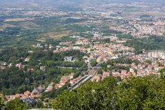 Aerial view of the town of Sintra, Portugal Royalty Free Stock Images