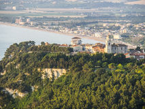 Aerial view of the town of Sirolo, Conero, Marche, Italy Royalty Free Stock Photography