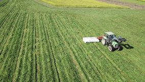 Tractor in the farmland stock video footage