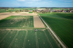 Aerial view of the tractor Stock Images