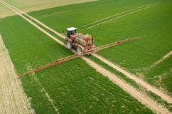 Aerial view of the tractor Royalty Free Stock Image
