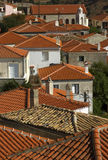 Aerial view of traditional Greek village. Stock Photos