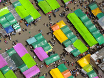 Aerial view of traditional market. Royalty Free Stock Photography