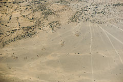 Aerial view on a traditional masai village Royalty Free Stock Photo