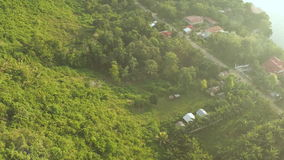 Aerial view on traditional Philippines fisherman village. Bohol Island. Shooting with the help of a drone. Coast. stock video