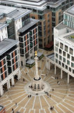 Aerial view of Trafalgar Square, London Stock Images
