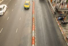 Aerial view of traffic in Bangkok, Thailand Royalty Free Stock Photography