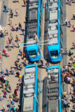 Aerial View Of Tram Station Stock Photo