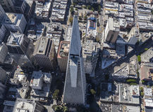 Aerial View of the Transamerica Tower in Downtown San Francisco Stock Photography