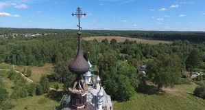 Aerial view of the Transfiguration church in Brynchagi Royalty Free Stock Photo