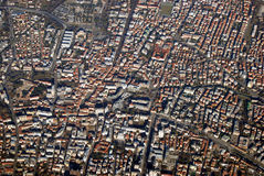 Aerial view of the Trevizo City, Italy Stock Images