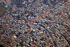 Aerial view of the Trevizo City, Italy Royalty Free Stock Photo