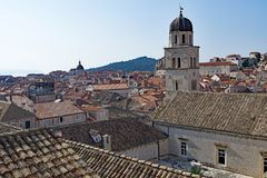 Dubrovnik Old Town rooftop and courtyard. royalty free stock images