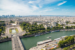Aerial view of Trocadero from the Eiffel Tower Royalty Free Stock Image
