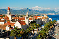 Aerial view of Trogir, Croatia Stock Images