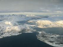Aerial View, Tromsoe Norway Stock Images