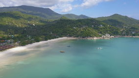 Aerial View of Tropical Bay stock video footage