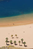 Aerial view of tropical beach royalty free stock images