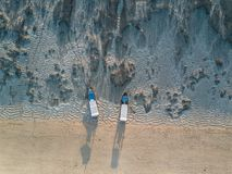 Aerial view of the tropical beach Stock Photos